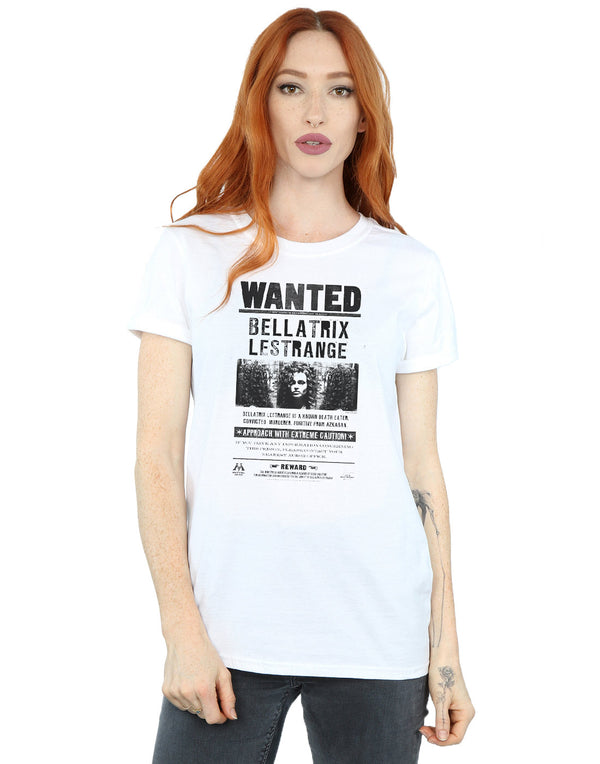 Harry Potter WANTED BELLATRIX Licensed Women/'s T-Shirt All Sizes