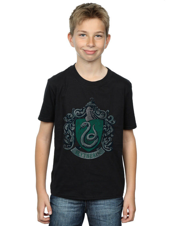 Harry Potter Boys Slytherin Distressed Crest T-Shirt