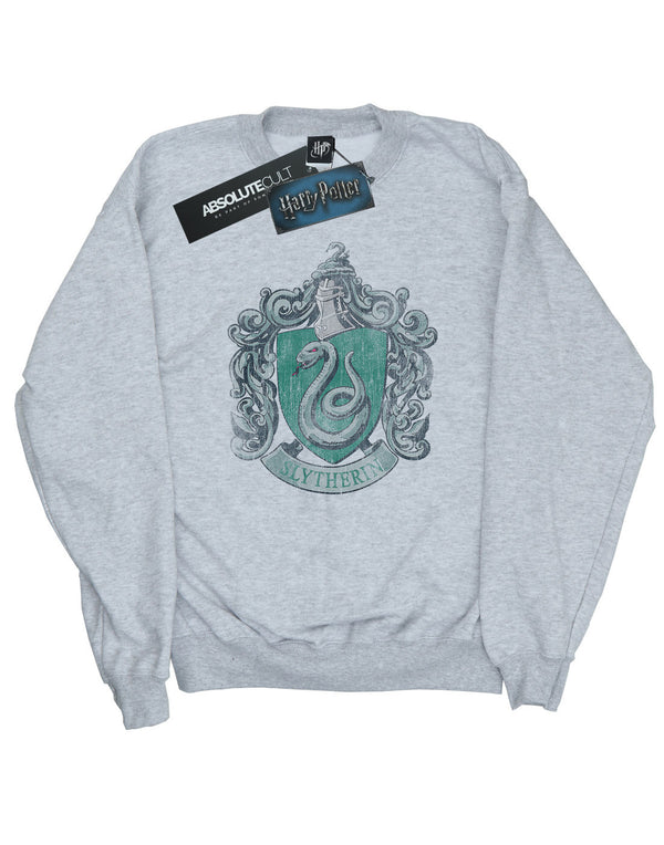 Harry Potter Men's Slytherin Distressed Crest Sweatshirt | Absolute Cult