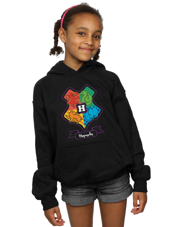 Harry Potter Girls Hogwarts Junior Crest Hoodie | Absolute Cult