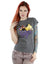 DC Comics Women's DC Bombshells Batgirl Badge T-Shirt