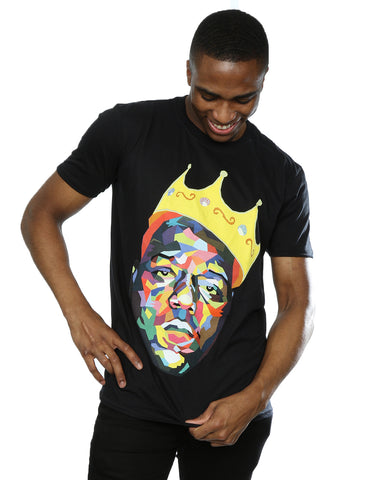Notorious BIG Men's Biggie Crown T-Shirt Large Black Front Image