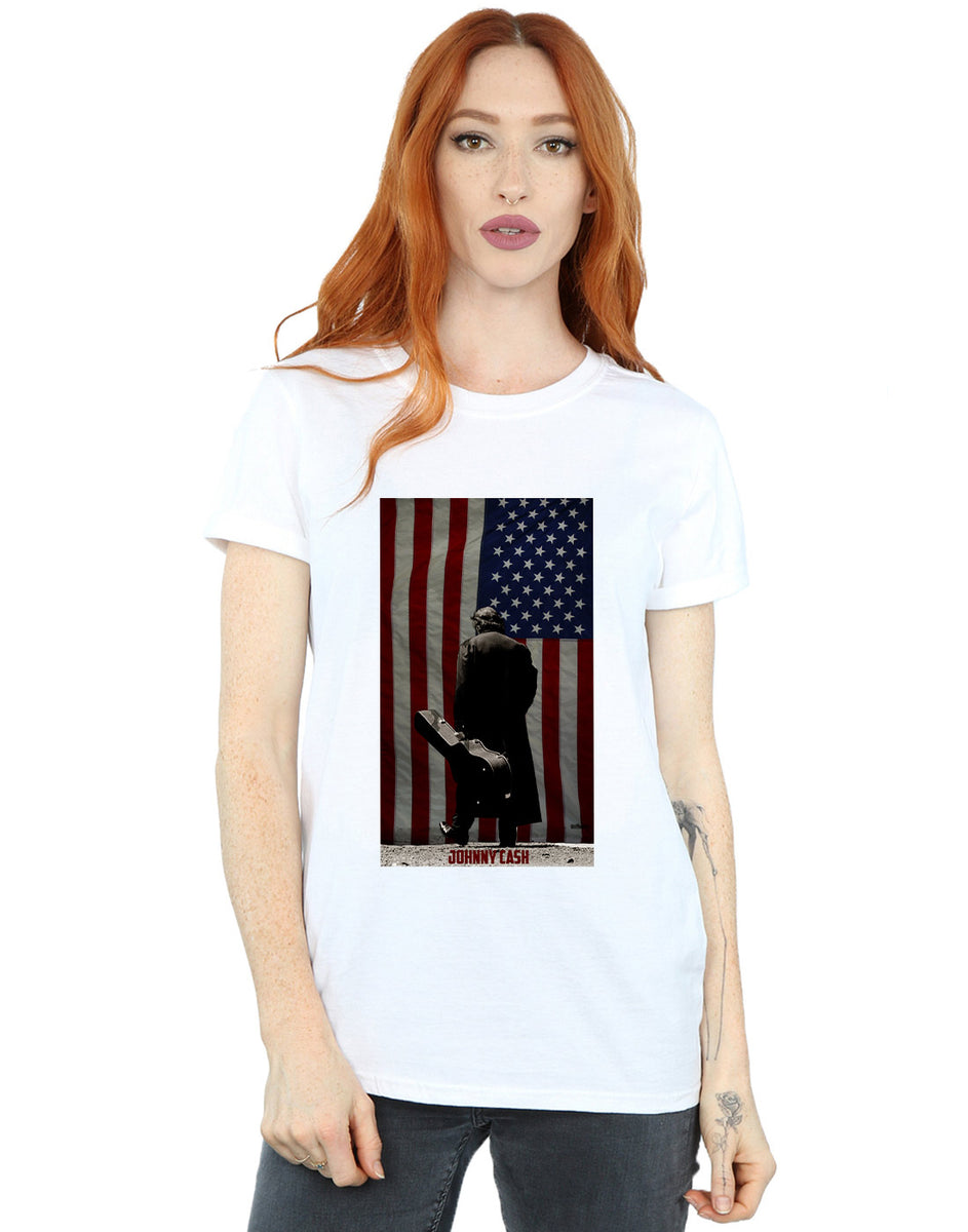 Official Johnny Cash American Flag T-Shirt