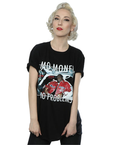 Homage Women's Notorious BIG Mo Money Mo Problems Boyfriend Fit T-Shirt Large Black Front Image