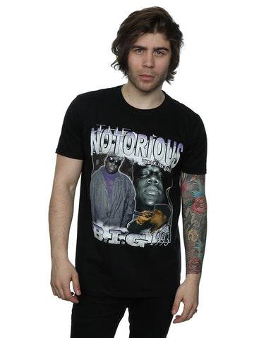 Homage Men's Notorious BIG Montage T-Shirt Large Black Front Image