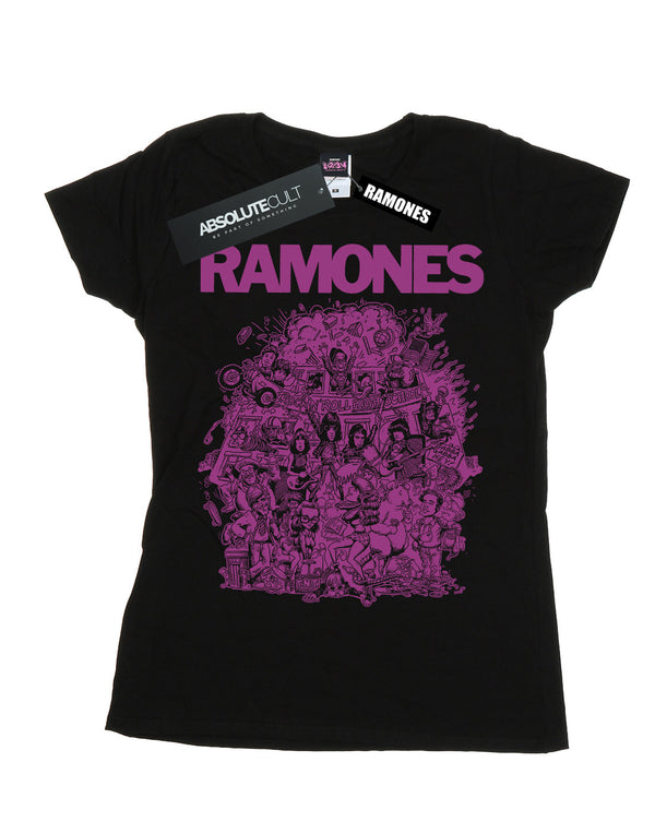 Ramones Women's High School Girls Purple T-Shirt