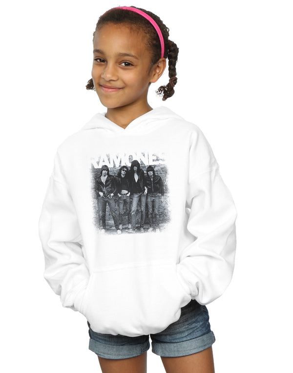 Ramones Girls First Album Faded Hoodie | Absolute Cult