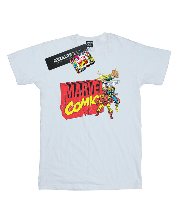 Marvel Comics  Girls Vintage Logo Blast T-Shirt