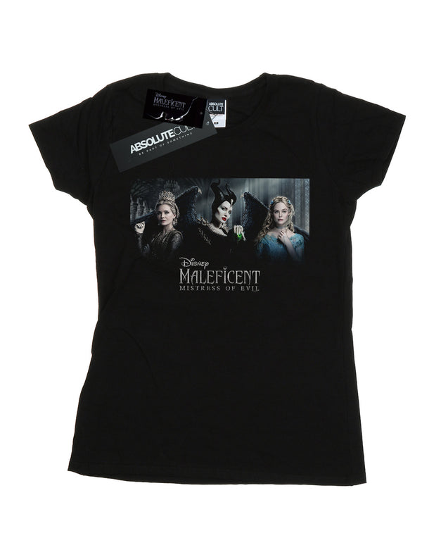 Disney Women's Maleficent Mistress Of Evil Character Poster T-Shirt | Absolute Cult