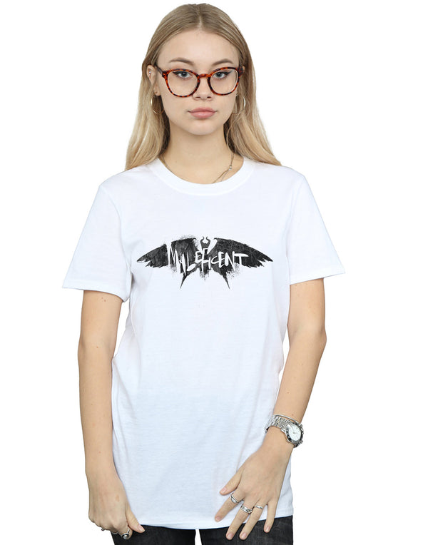 Disney Women's Maleficent Mistress Of Evil Wings Silhouette Boyfriend Fit T-Shirt | Absolute Cult