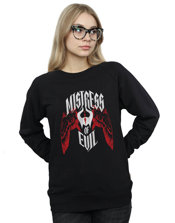 Disney Women's Maleficent Mistress Of Evil Wings Sweatshirt