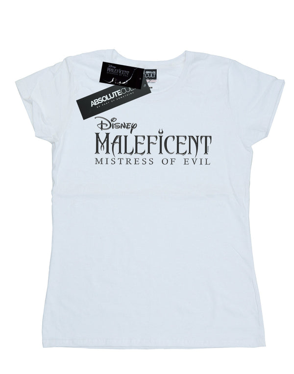 Disney Women's Maleficent Mistress Of Evil Logo T-Shirt | Absolute Cult