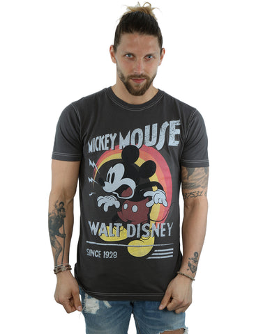 Aftershow Men's Mickey Mouse Retro Shout T-Shirt Front Image
