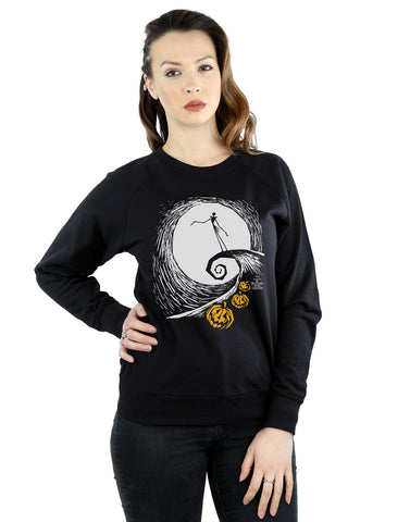 Disney Women's Nightmare Before Christmas Jack's Lament Sweatshirt Large Black Front Image