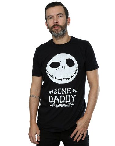 Disney Men's Nightmare Before Christmas Bone Daddy T-Shirt Large Black Front Image