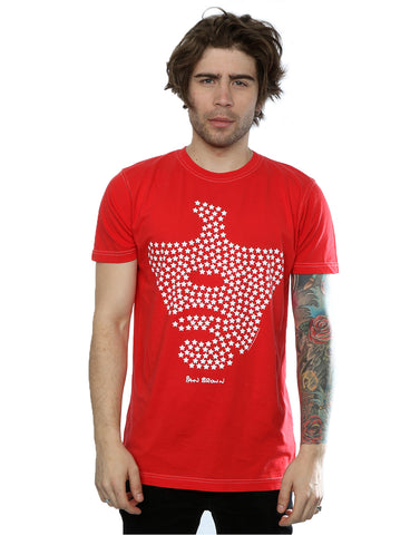 Aftershow Men's Ian Brown Star Face T-Shirt Large Vintage Red Front Image