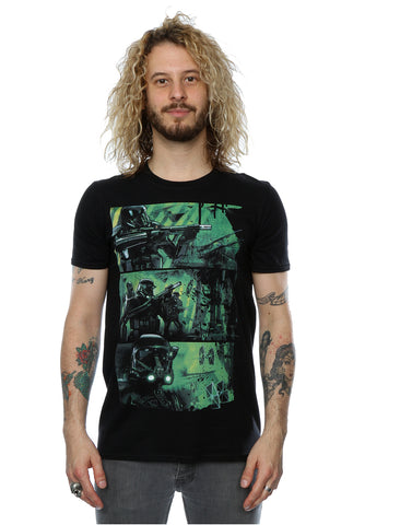 Star Wars Men's Rogue One Death Trooper Comic Strip T-Shirt Front Image