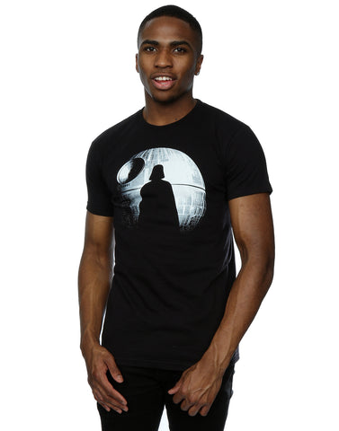 Star Wars Men's Rogue One Death Star Vader Silhouette T-Shirt Front Image