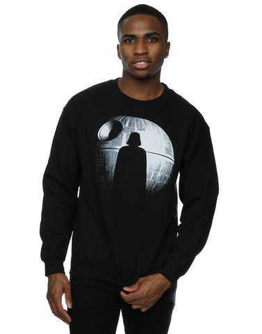 Star Wars Men's Rogue One Death Star Vader Silhouette Sweatshirt Front Image