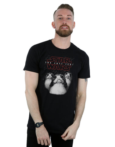 Star Wars Men's The Last Jedi Porgs T-Shirt Front Image