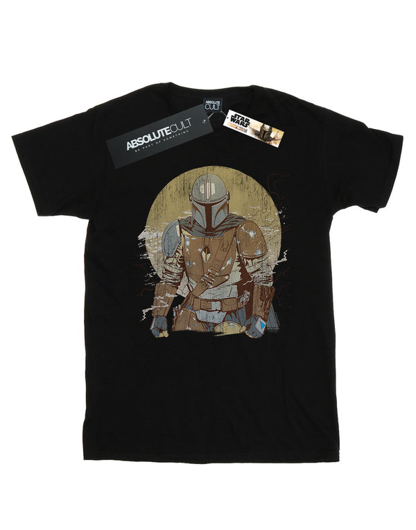 Star Wars Men's The Mandalorian Distressed Warrior T-Shirt | Absolute Cult