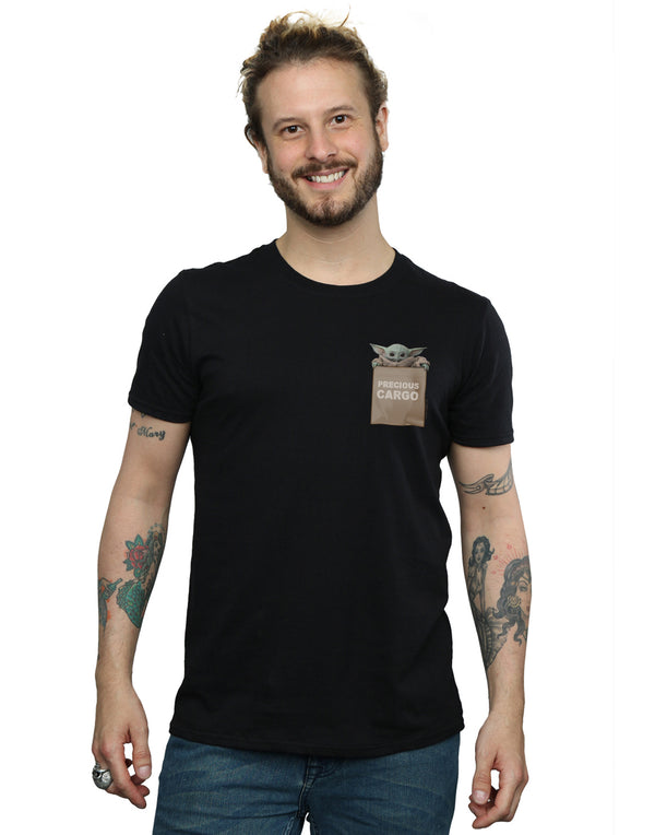 Star Wars Men's The Mandalorian Precious Cargo Faux Pocket T-Shirt