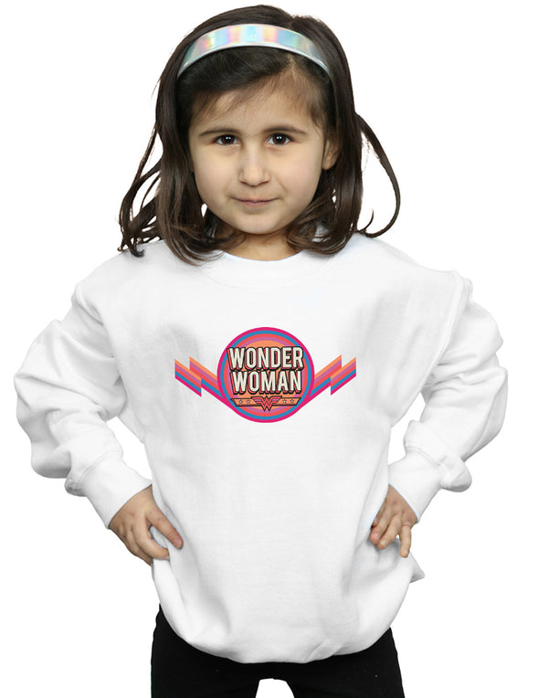 DC Comics Girls Wonder Woman Rainbow Logo Sweatshirt