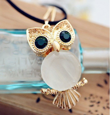 Korean Style Cute Owl-shaped Long Necklace