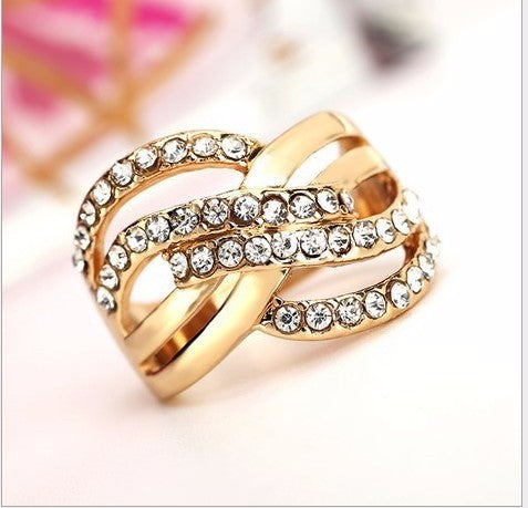18K Gold Plated of Genuine Jewelry Fashion Charm Ring