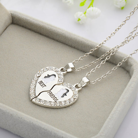 2 pcs New Design BFF Pendant Necklace Friendship