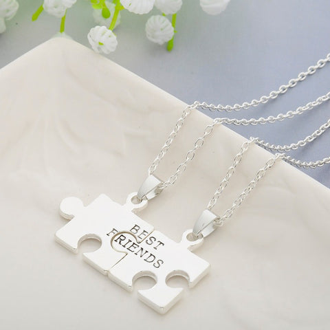 2 pcs Puzzles Friendship Necklace