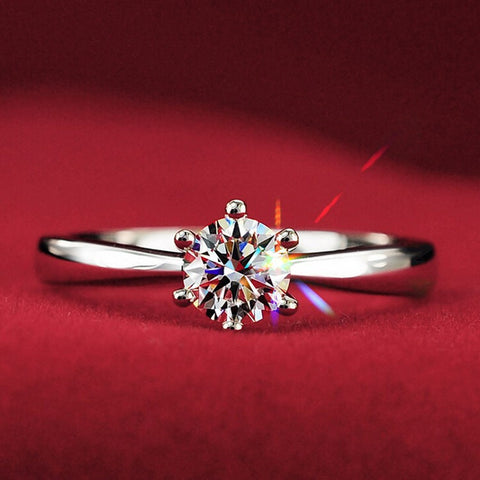 New Fashion Diamond High Imitation Ring Silver Plated Wedding Ring