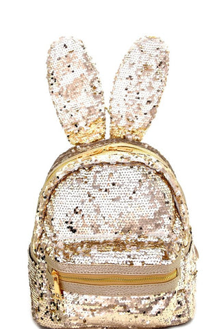 Bunny Ear Sequin Flashy  Backpack - The Fashion Armoire Ltd. Co.