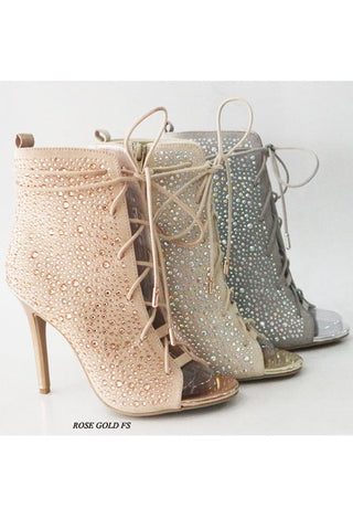 Crystal Drops Ankle Boots - The Fashion Armoire Ltd. Co.