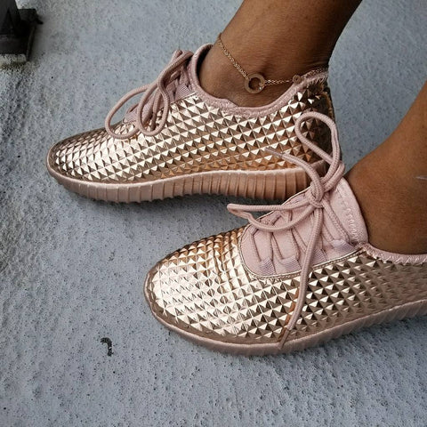 Rose Gold Sneaker - The Fashion Armoire Ltd. Co.