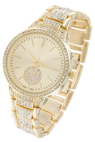 Rhinestones Accent Watch - The Fashion Armoire Ltd. Co.