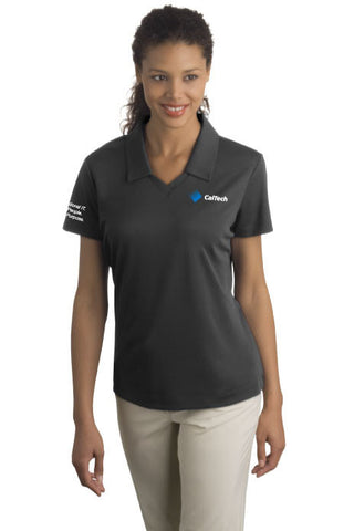 Ladies Anthracite Nike Golf Dri-FIT Micro Pique Polo -ULCSLV