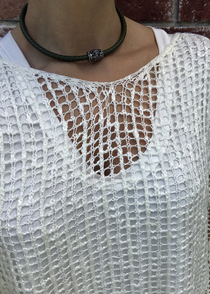 Braided Leather Choker