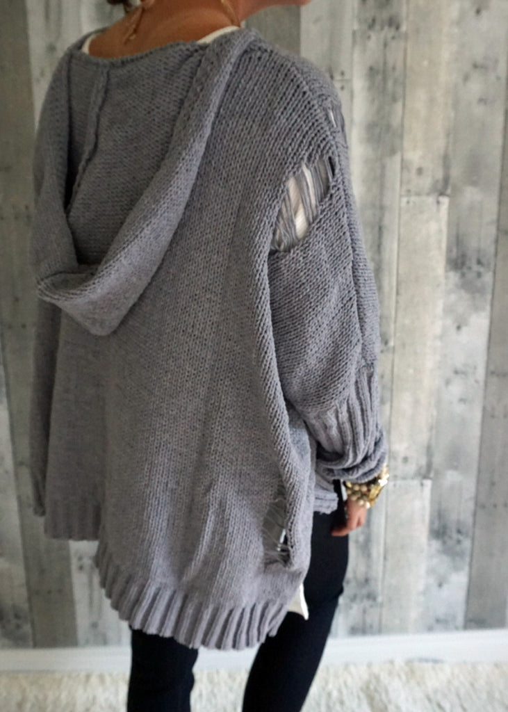 Distressed Pullover