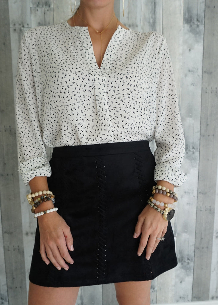 Floral Popover Top