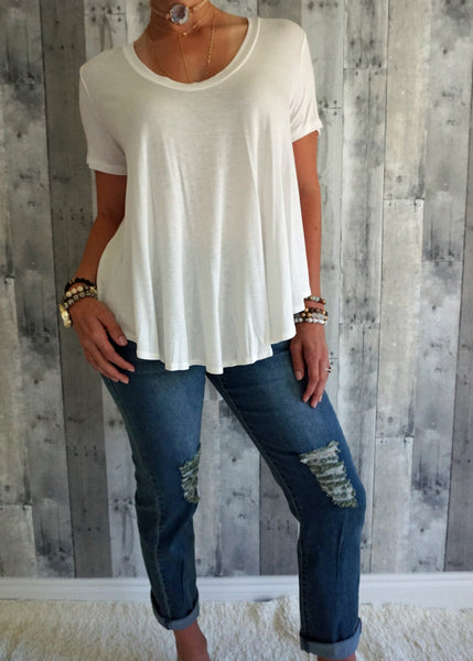 Distressed Stretch Denim