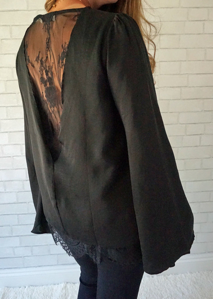 Lace Back Blouse