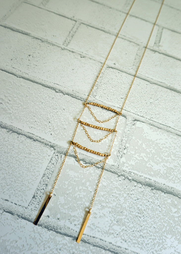 Gold Ladder Necklace