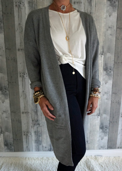 Simple Open Cardigan