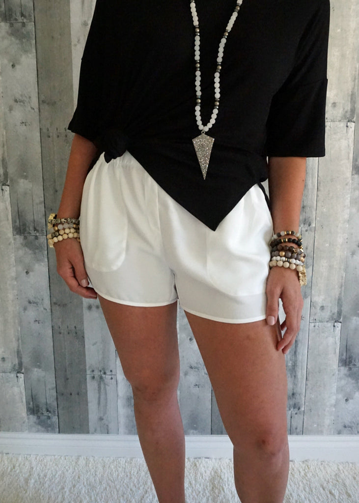 Ruched Waist Shorts