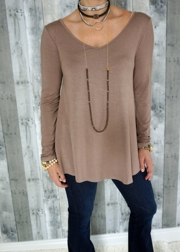 Knit Top with Cutout Back Detail