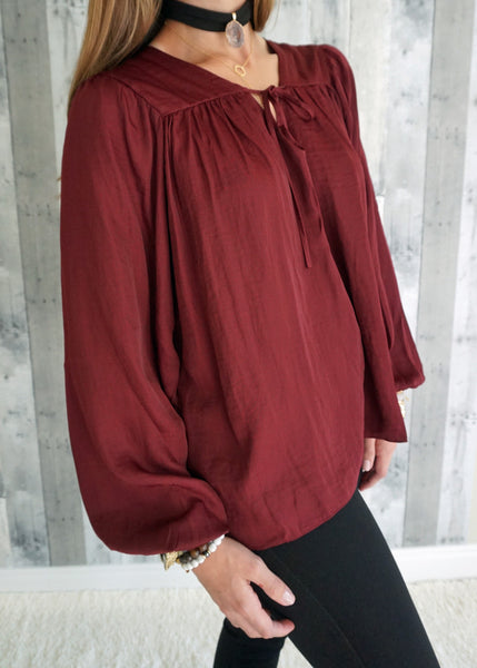 Do+Be Rizzo Tie Neck Blouse