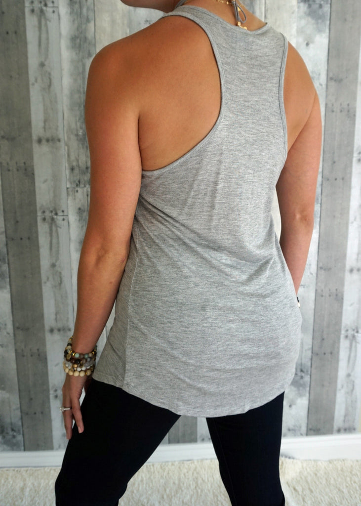 Tunic Tank Top with Pocket