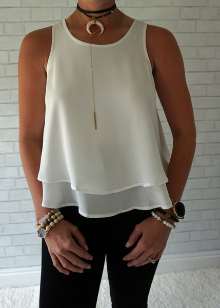 Layered Flowy Racerback Top