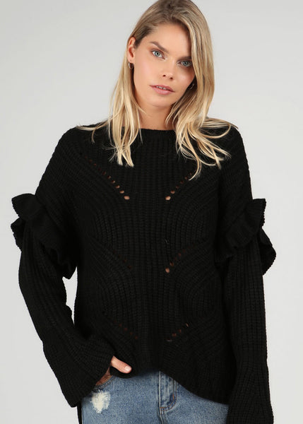POL Chunky Rib Knitted Sweater
